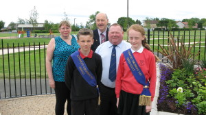 Queen Elect Freya and Herald Declan cut the ribbon to officially re-open the Memorial Park on 16 June, following the completion of a large scale programme of improvements. The works carried out, including a new entrance from The Loan and a tarmac roadway around the park, will be of considerable assistance when the park is the location for large scale events such as the afternoon programme on Children's Day.